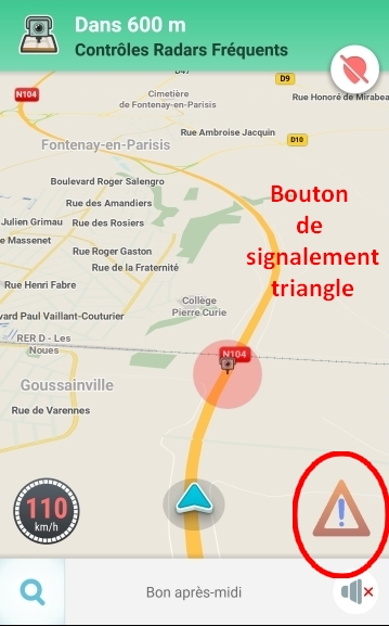 Image result for version triangle waze